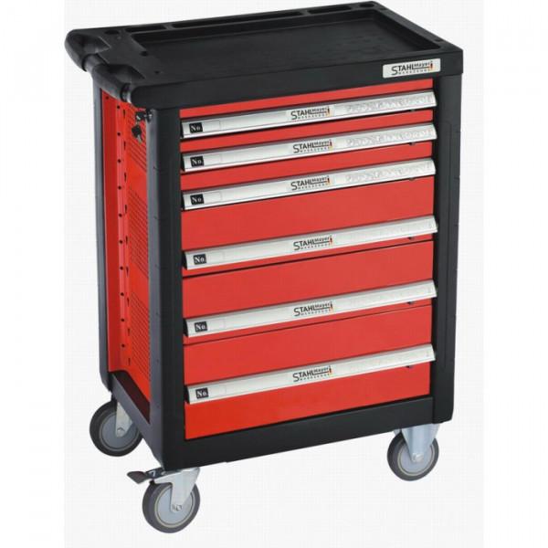 werkzeugwagen draft line mit 6 schubf chern rot werkzeugwagen der heimwerker. Black Bedroom Furniture Sets. Home Design Ideas
